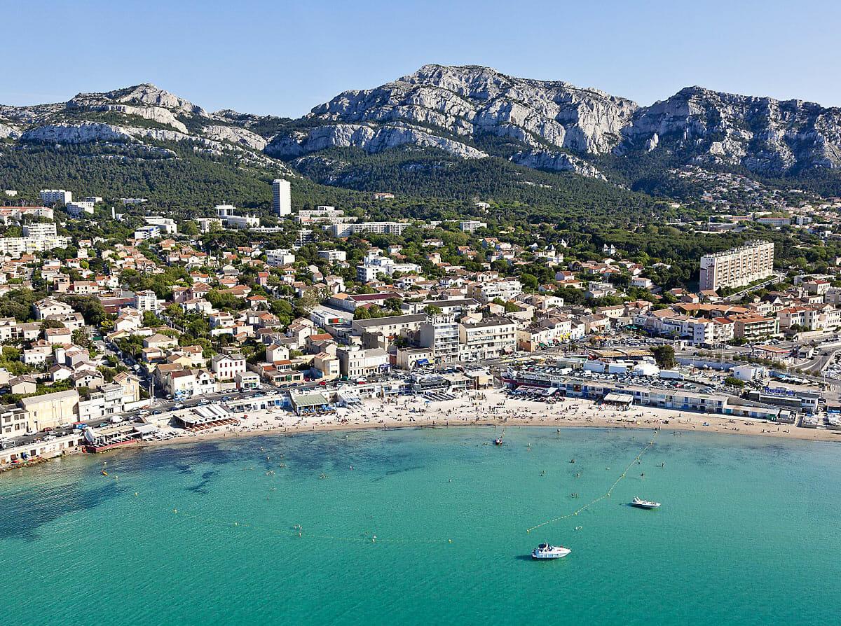 Plage de la Pointe Rouge de Marseille • Plages de Marseille • Colorbüs